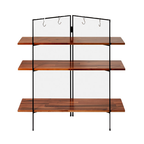 FOLDING WOOD SHELF OBLONG